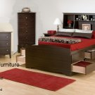 TALL ESPRESSO 12 DRAWER FULL  MATES BEDROOM SET