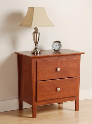 CHERRY BERKSHIRE 2 DRAWER NIGHTSTAND/TABLE