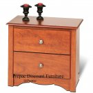 2 DRAWER MONTEREY NIGHT TABLE CHERRY PREPAC