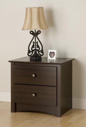 2 DRAWER FREMONT NIGHT TABLE/STAND ESPRESSO