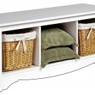 CUBBIE BENCH WHITE COLOR MONTEREY COLLECTION BY PREPAC