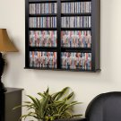 "CD,DVD,VHS 33"" WIDE BLACK HANGING WALL STORAGE"