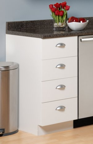 18 INCH 4 DRAWER KITCHEN BASE CABINET SHAKER COLLECTION BD-1836-S