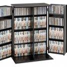 SMALL BLACK CD/DVD CABINET W/SHAKER DOOR