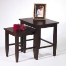 ESPRESSO SOLID WOOD SET 2 NESTING TABLES