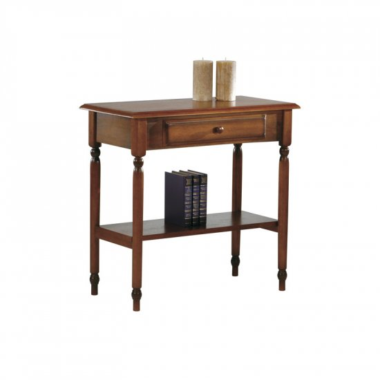 Foyer Table Cherry : Cherry solid wood console foyer table drawer shelf