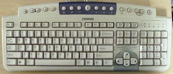 Compaq Keyboard 5000 Series PC Desktop nice whiteQuartz