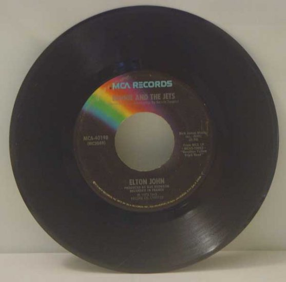 Elton John:  Bennie and the Jets, Harmony (45 RPM)