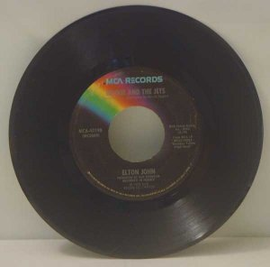 Elton John:  Bennie and the Jets, Harmony (45 RPM)