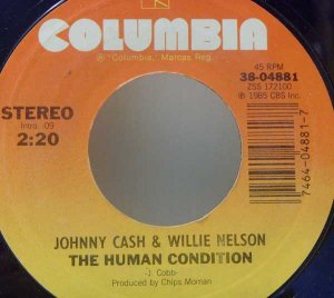 Johnny Cash, Willie Nelson, Waylon Jennings, Kris Kristofferson (Columbia Records, 45 RPM)