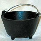 "Cast Iron Cauldron 2 3/4"" dia"