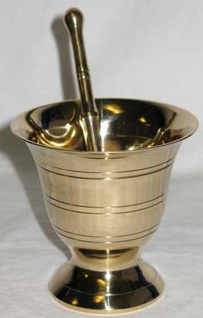 Mortar/Pestle Brass large