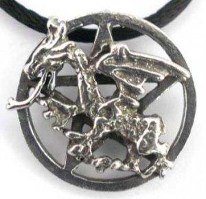 Dragon Cross Pentacle Pendant