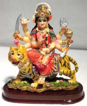 Durga on Tiger