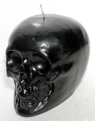 "Skull Black 3 1/2"" Candle"