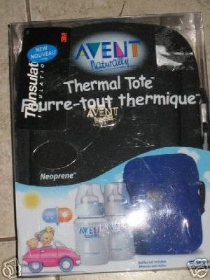 New Advent thermal bottle insulate tote bag black