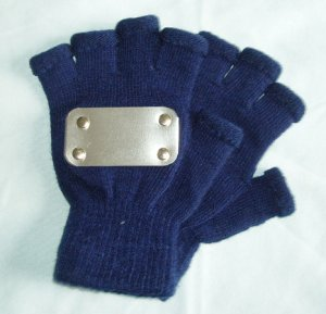 Naruto cosplay: Navy Blue fingerless Kakashi gloves