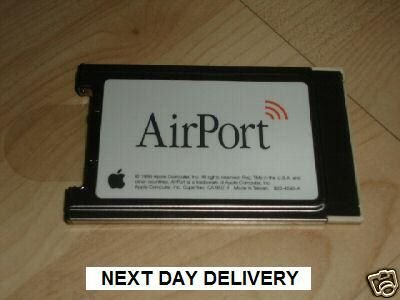 APPLE AIRPORT CARD 802.11b (£39.99 only including delivery)