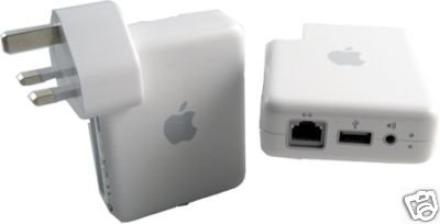 GENUINE APPLE AIRPORT EXPRESS BASE STATION FOR MAC & PC + UK PLUG(only £39.99 including delivery)