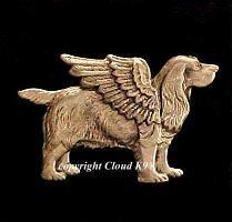 Cocker Spaniel Guardian Angel Dog Pin (English Cocker Spaniel)