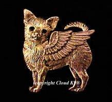 Chihuahua Guardian Angel Dog Pin