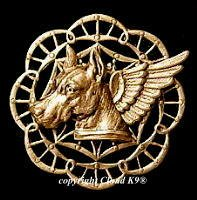 Great Dane Guardian Angel Dog Pin