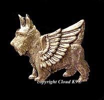 Scottie Guardian Angel Dog Pin   Scottish Terrier
