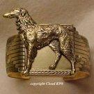 Standing Borzoi CUFF BRACELET   Russian Wolfhound  *Signed* Jewelry