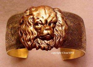 Cavalier King Charles Spaniel CUFF BRACELET *SIGNED* Blenheim Spaniel