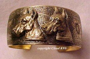 Great Dane CUFF BRACELET *SIGNED* Jewelry