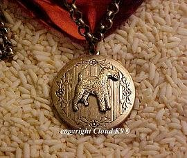 Airedale Terrier Photo Locket Necklace (Irish Welsh Wire Fox Terrier) Jewelry for Dog Lovers
