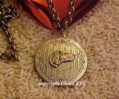 Weimaraner Vizsla Photo Locket Necklace ....Jewelry for Dog Lovers