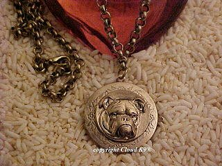 English Bulldog Photo Locket Necklace ... Jewelry for Dog Lovers