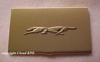Racing Borzoi Business Card Case  ( Lure Coursing Russian Wolfhound )