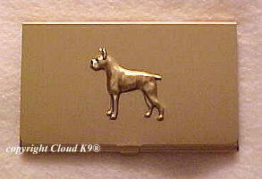 Boxer Dog Business Card Case