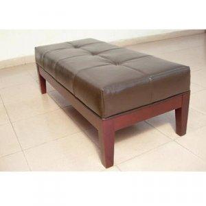 The Victoria Ottoman / Bench - Dark Brown Leather