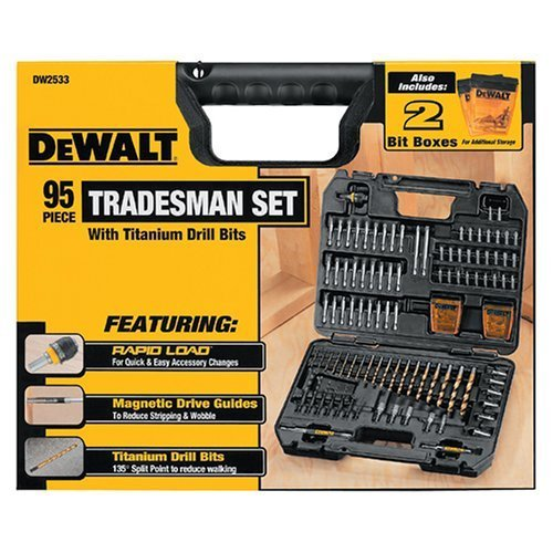 Dewalt 95 Piece Tradesman Set Drill Bits