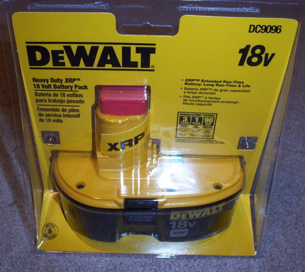 DC9096 Dewalt 18 v XRP Battery