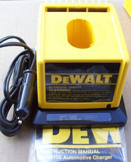 DW9105 Dewalt Automotive Vehicle Charger 7.2v -14.4v