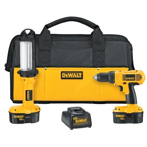 DEWALT DC759LA 18V Cordless Drill w/Bonus Light & Bag