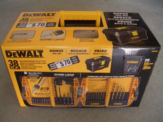Dewalt DW1363TB 38 Piece Heavy Duty Drill & Drive Bit Set W/ Tool Box