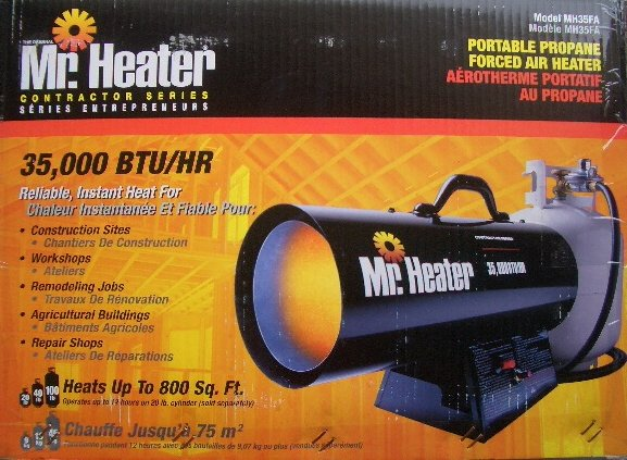 Mr. Heater MH35FA - Forced Air Propane Heater