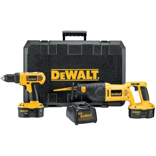 DC759CA Dewalt 18V Compact Drill/Recip Saw Combo Kit