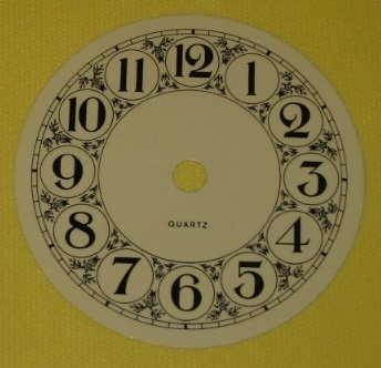"3-7/8"" Metal Fancy Face Arabic Clock Dial"
