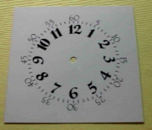 "7-1/4"" Metal Shaker Roman Ivory Clock Dial"