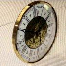 "5-3/4"" Bezel Fitup  w/Fancy Roman Dial - Brass and Glass"