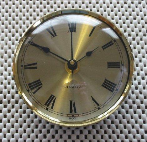 """4"""" (100mm)  Brass Bezel Fitup - Spun Brass Roman Dial"""