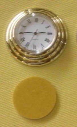 "(3) 42mm (1-3/4"") Designer Quartz Clock Fitups Roman  -EZ Mounts"