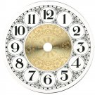 "4-1/4"" Metal Designer Fancy Face Arabic Clock Dial"