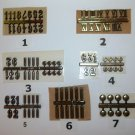 (10) Plastic Clock Markers - Self Adhesive - Gold